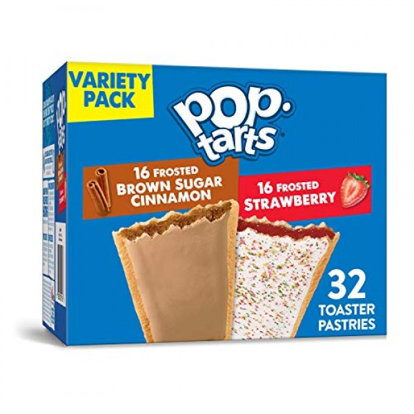 Kelloggs Pop-Tarts Variety Pack - Toaster Pastries for Kids, Fr...