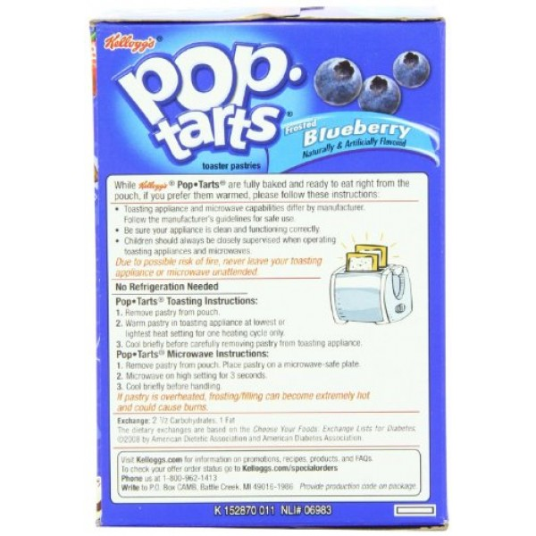 Kelloggs Pop-Tarts Frosted Blueberry Toaster Pastries 8 ct Pac...