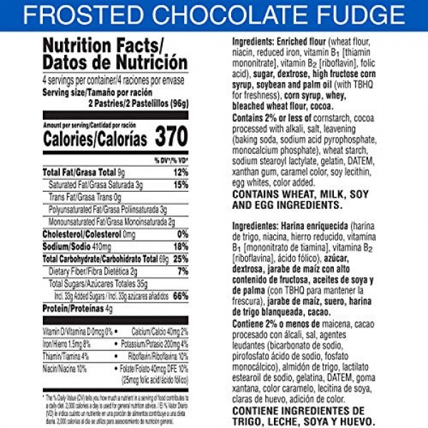 Kelloggs Pop-Tarts Frosted Chocolate Fudge Toaster Pastries - F...