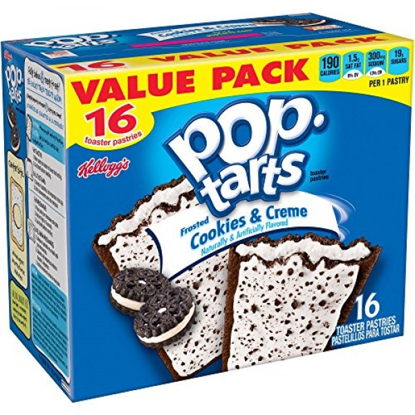 Kelloggs, Pop-Tarts, Frosted Cookies & Creme Toaster Pastries, ...
