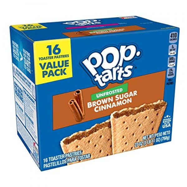 Kelloggs Pop-Tarts Unfrosted - Toaster Pastries Breakfast for K...