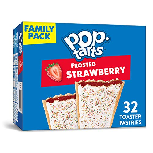 Kelloggs Pop-Tarts Frosted Strawberry Toaster Pastries - Fun Br...