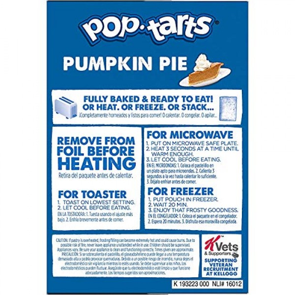Pop-Tarts Breakfast Toaster Pastries, Frosted Pumpkin Pie Flavor...