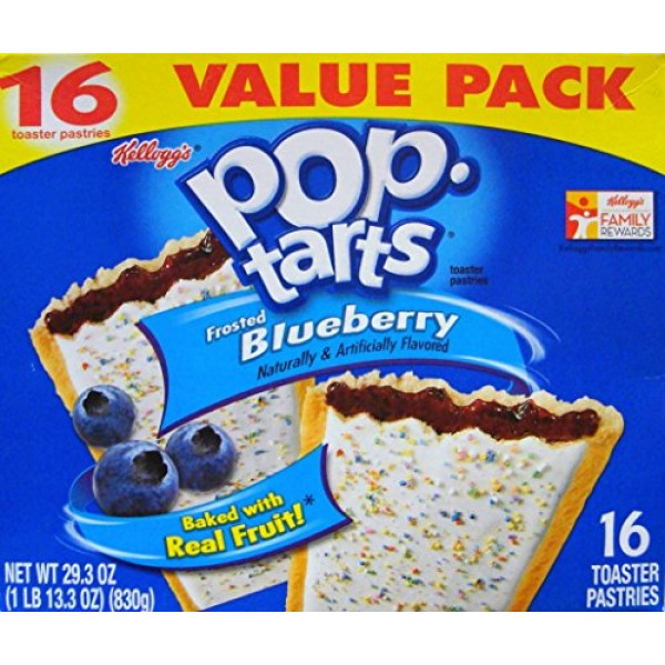 Pop-Tarts Frosted Blueberry Toaster Pastries 1 Pack 29.3 OZ