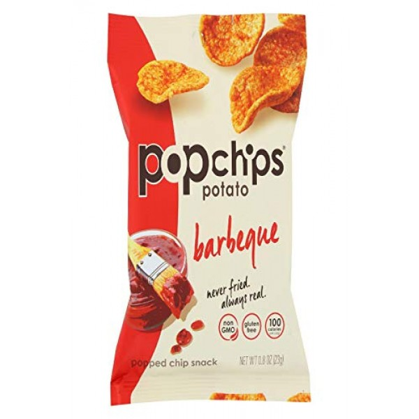 Popchip - Potato Chips All Natural Barbeque - 0.8 oz. [Pack of 24]