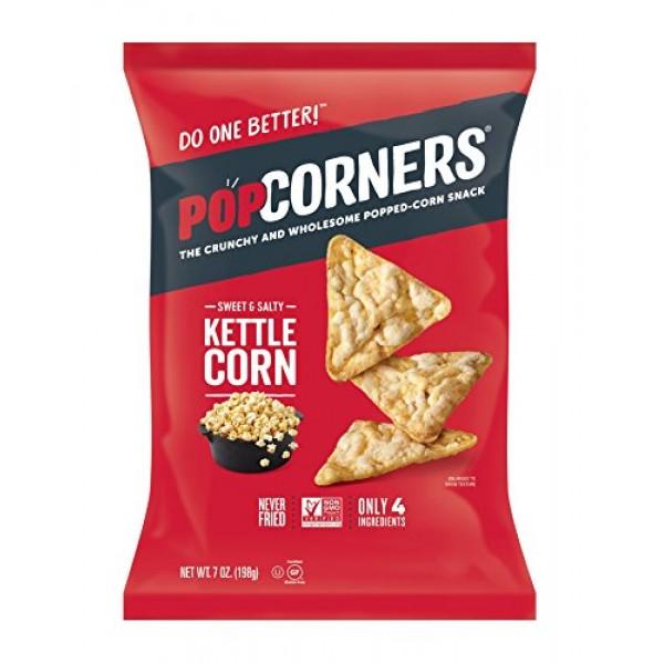 PopCorners Kettle Corn Snack | Gluten Free, Vegan Snack | 12 Pa...