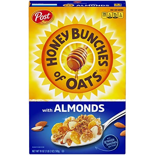 Post Honey Bunches of Oats with Crispy Almonds, Whole Grain, Low...