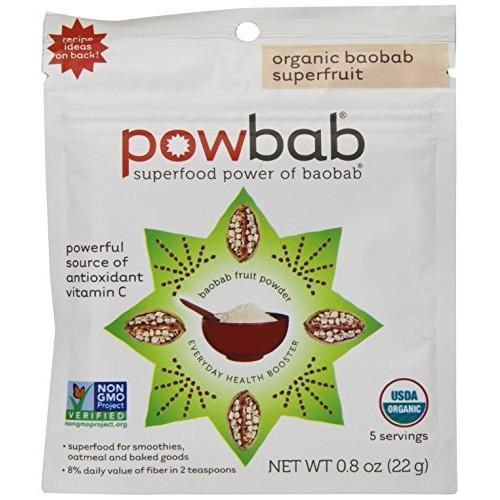 Powbab Organic Baobab Superfruit Powder, 5 Count