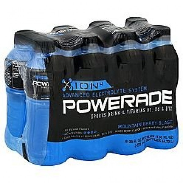 Powerade energy drink ion4 mountain berry blast 8 pack 20 oz bot...