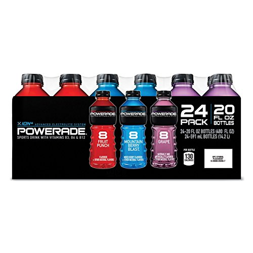 Powerade Sports Drink Variety Pack 20 Oz Bottle, 12 Count