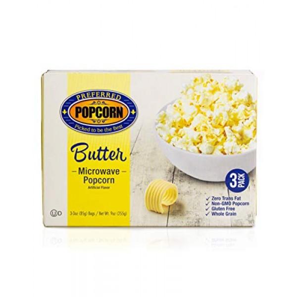 Preferred Popcorn Microwave Popcorn, Buttery Popcorn, 36 Pack - ...