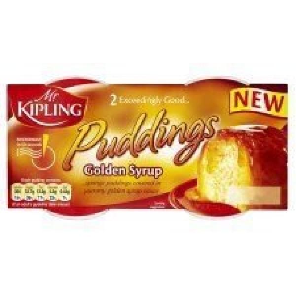 Mr Kipling Puddings Golden Syrup 2 X 85G