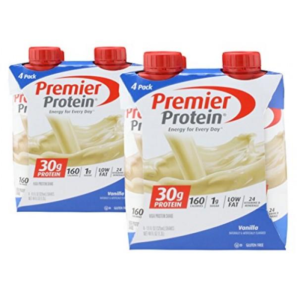 2 Packs Premier Protein, High Protein Shake, Vanilla - 11 oz. ...