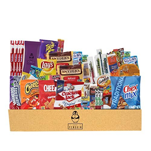 Everyday Care Package (50 Count + 1 Bonus Snack) Snack Box - An ...
