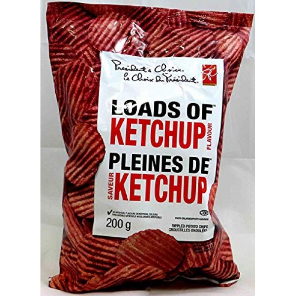 Canadian Presidents Choice Loads of Ketchup Flavour Chips [1 La...