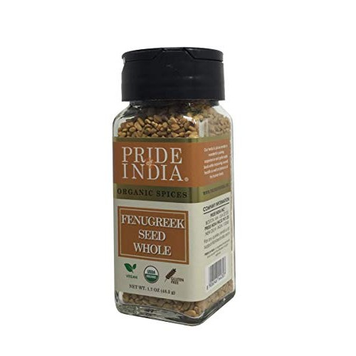 Pride Of India - Organic Fenugreek Seed Whole, 1.7 oz 48 gm Du...