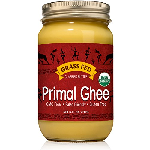 Primal Ghee - Grass Fed Organic Unsalted Clarified Butter - Pure...