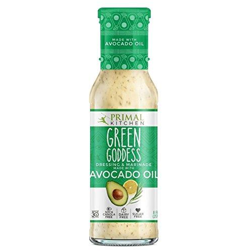 Primal Kitchen Green Goddess Dressing & Marinade made with Avoca...