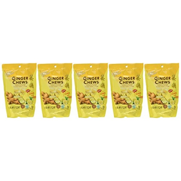 5 Packs of Prince of Peace 100 Percent Natural Ginger Candy Chew...