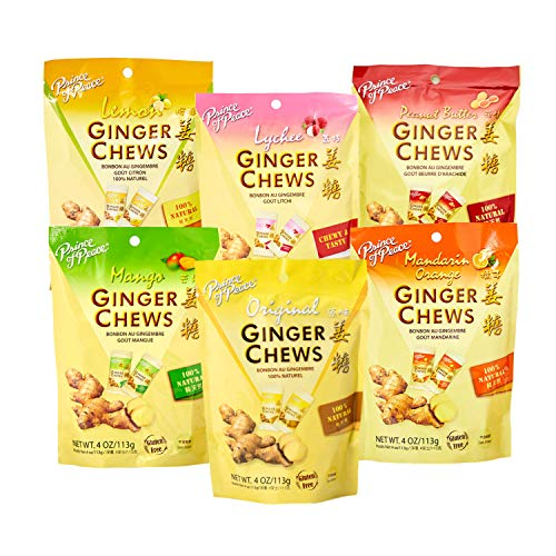 Prince of Peace Ginger Chews Candy Bundle — Original, Lemon, Ora...