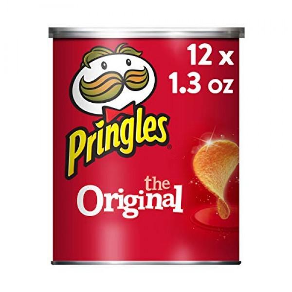 Pringles Potato Crisps Chips, Original, 1.3oz 12 Count