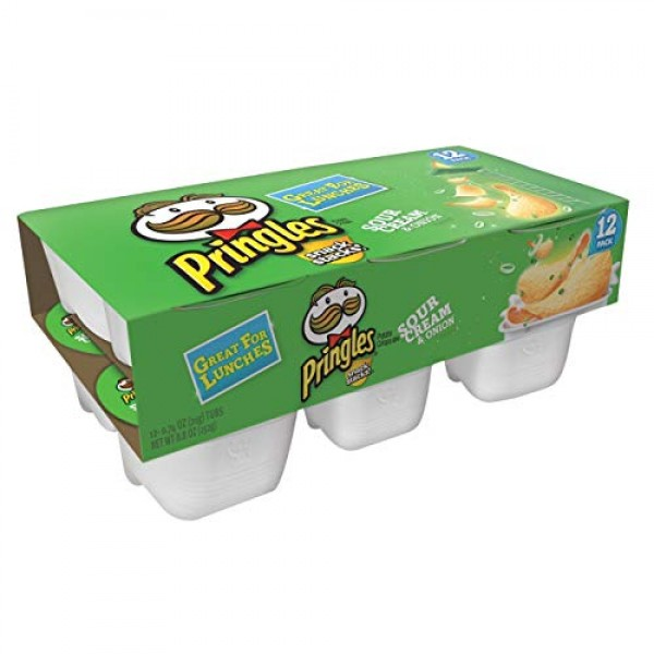 Pringles Snack Stacks! Sour Cream & Onion Potato Crisps, 0.74 oz...