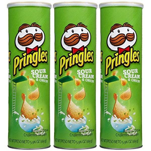 Pringles Chips - Sour Cream & Onion - 5.96 oz - 3 pk