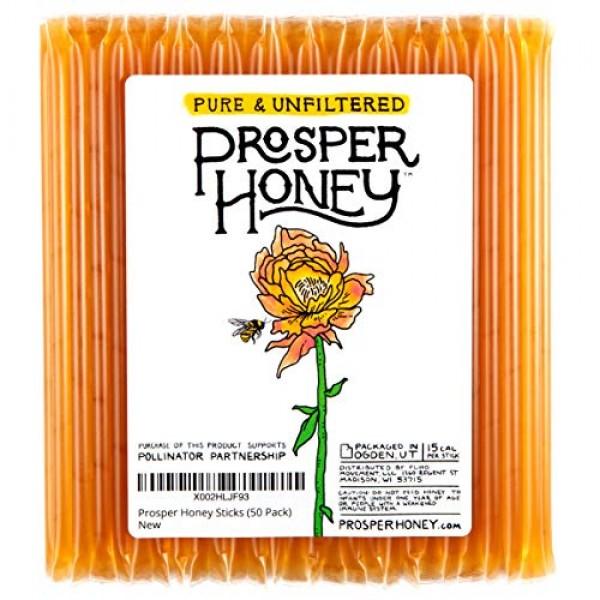 Prosper Honey Sticks, Honey Straws Made with 100% Pure Unfiltere...