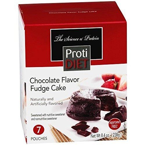 Protidiet High Protein Chocolate Flavor Fudge Cake 7 Pouches
