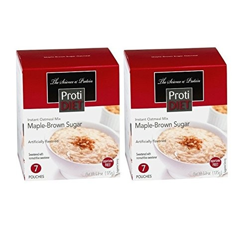 Protidiet - Maple-Brown Sugar Instant Oatmeal Mix - 2 Pack