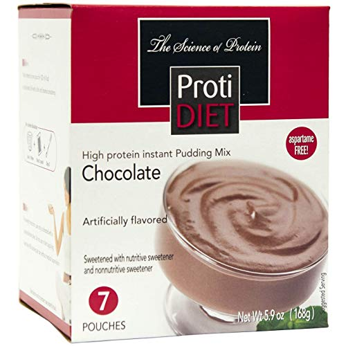 ProtiDiet Protein Pudding - Chocolate 7/Box - High Protein 15g...