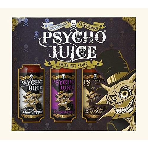 Psycho Juice Gift Box - Mega Hot Collection 1 - Trio Chilli Sauc...