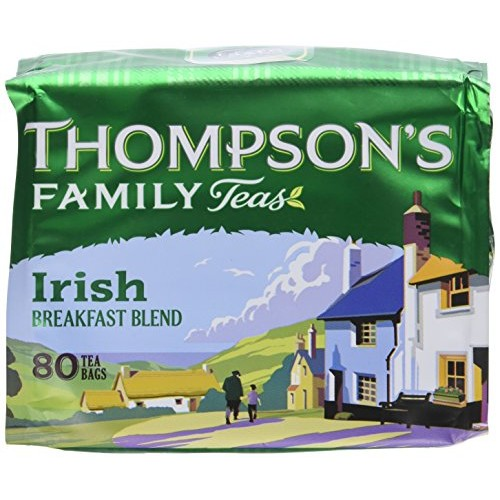 Thompsons Punjana Irish Breakfast 80 Teabags (8.82 Oz) (Pack of 2)
