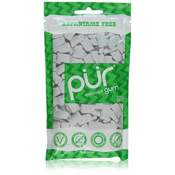 PUR Gum Spearmint - 2.82 Oz Each/Pack of 2