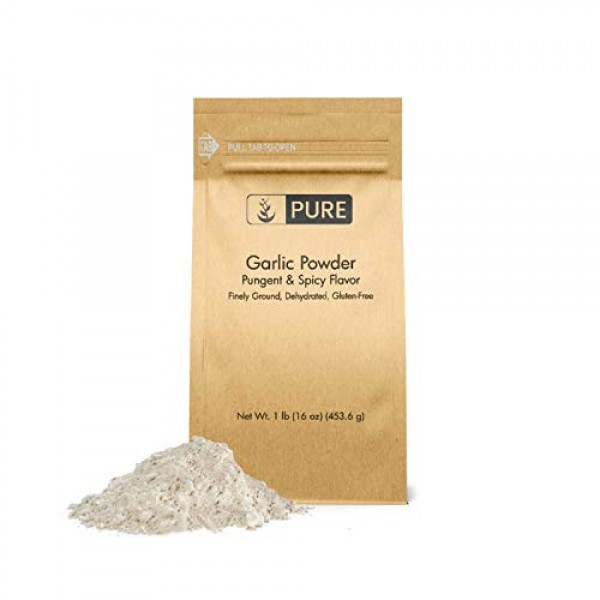 Garlic Powder 1 lb by Pure Organic Ingredients, Pure, Fine Gro...