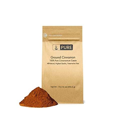 Ground Cinnamon 1 lb by Pure Organic Ingredients, Cinnamomum C...