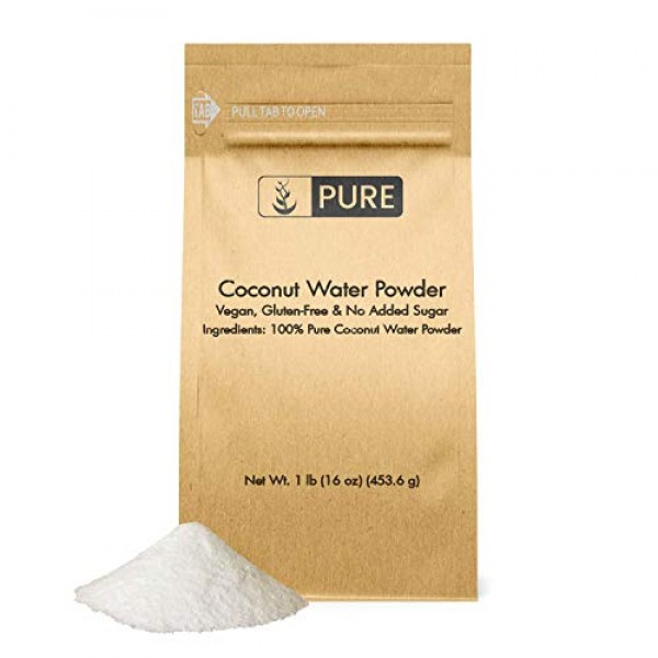 Natural Coconut Water Powder, 1 lb, 6400 mg Serving, Great Taste...