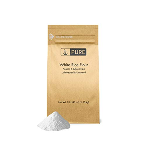 White Rice Flour 3 lb. by Pure Organic Ingredients, Kosher, Gl...