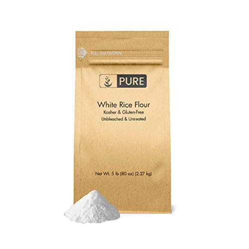 White Rice Flour 5 lb. by Pure Organic Ingredients, Kosher, Gl...