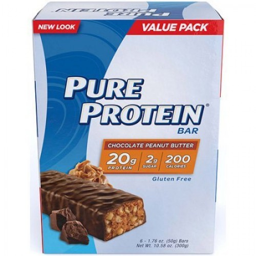 Pure Protein High Protein Bars, Chocolate Peanut Butter, 1.76 Ou...