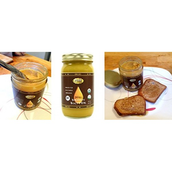 Organic Cultured Brown Butter Ghee, Grass Fed, Casein and Lactos...