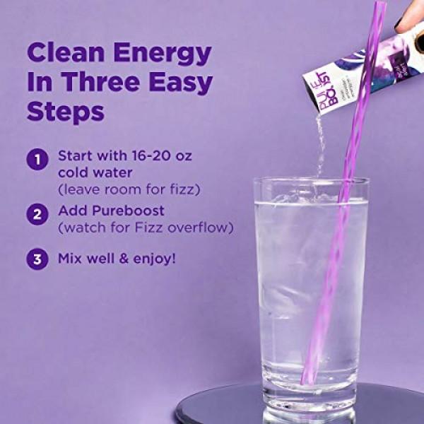 Pureboost Clean Energy Drink Mix + Immune System Support. Sugar-...