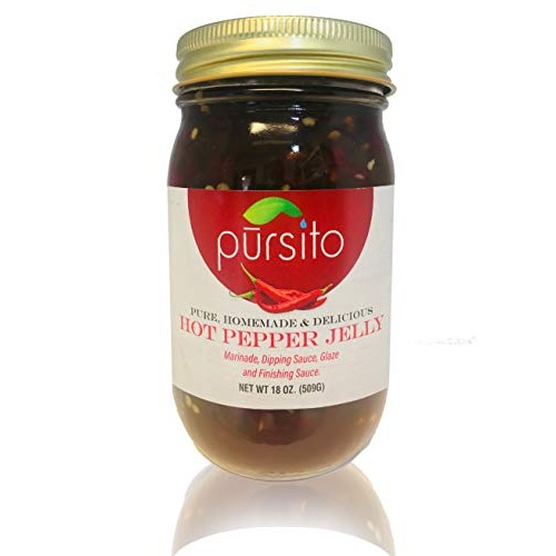 Pursito Homemade Sweet and Delicious Hot Pepper Jelly 18 Ounces ...