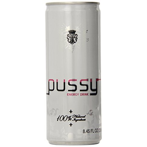 Pussy Natural Energy Drink 250ml - Pack of 4