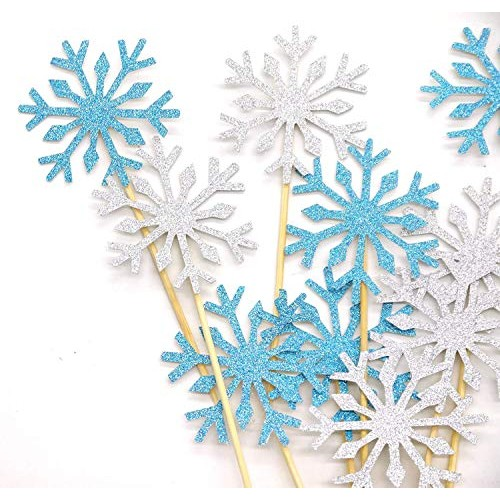 PuTwo 20 Counts Wedding Cake Decorating Frozen Cupcake Toppers T...