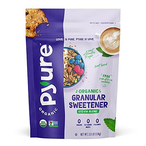 Pyure Organic Stevia Sweetener Blend, 2:1 Sugar Substitute, Gran...