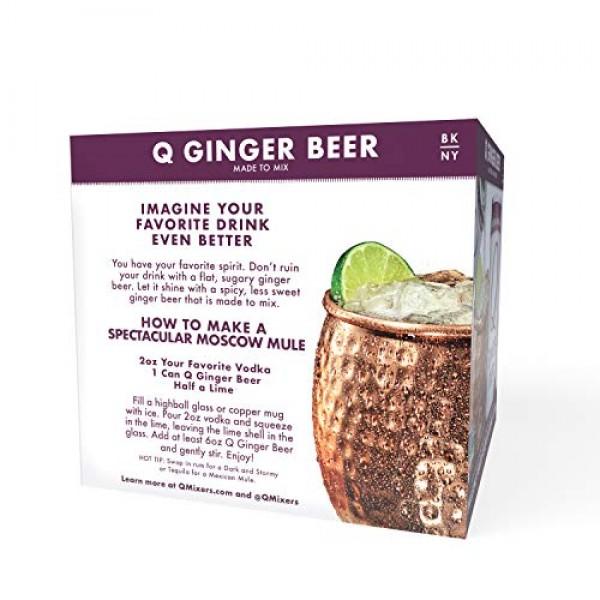 Q Mixers Ginger Beer, Premium Cocktail Mixer, 7.5 oz 12 Cans