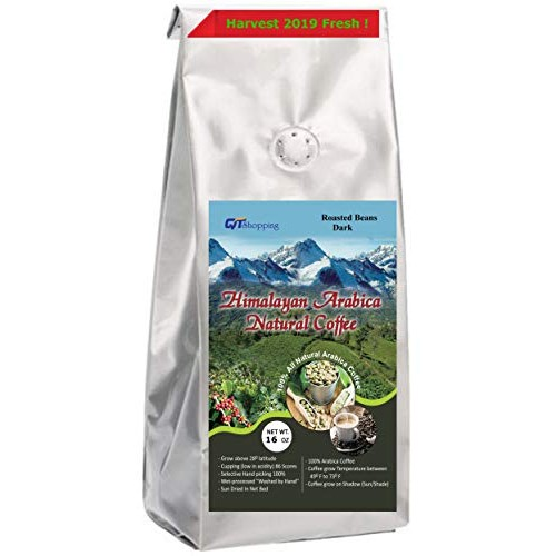 Himalayan Arabica Dark Roasted Coffee Beans Grow on Sun Shade Ha...