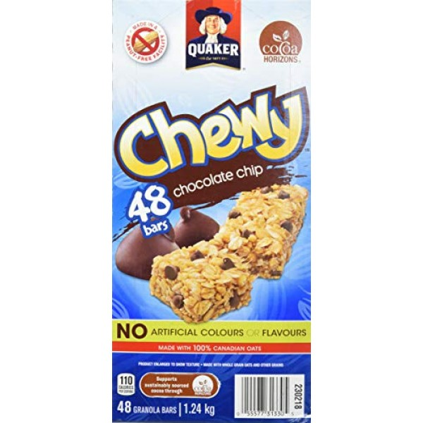 Quaker Chewy Chocolate Chip Bars- Club Size 48 Bars {Imported fr...