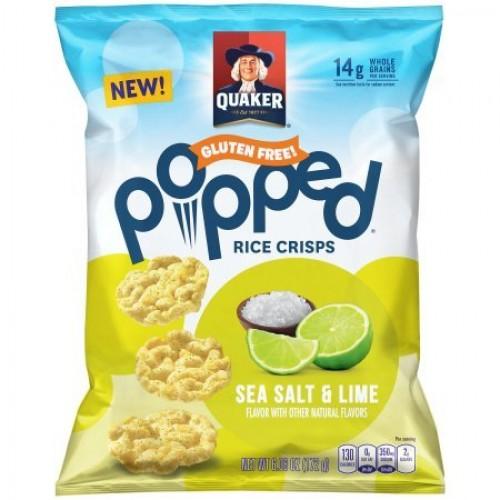 Quaker Popped Rice Crisps, Sea Salt & Lime 6oz, pack of 1